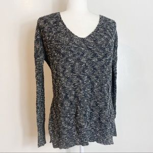 Lush Laced Back V Neck Sweater